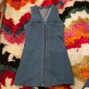 Free People Denim Dress Size 8
